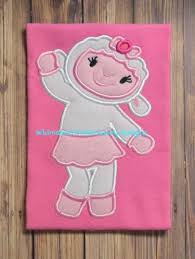 lambie doc mcstuffins applique machine embroidery design