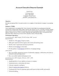 good resume for accounts executive responsibilities for marketing account executive resume objective shalomhouse us