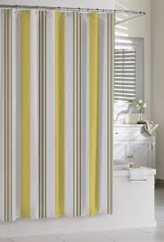 Stripe Shower Curtains Curtains Yellow Striped Shower Curtain White And Yellow Curtains