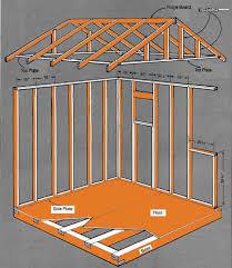 Floor Plans Storage Sheds 8 8 Gable Storage Shed Plans U0026 Blueprints For Creating A Garden Shed