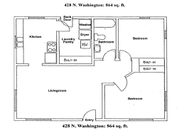 floor plan two bedroom house apartment rentals house 428 n washington moscow id description