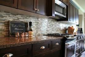kitchen appealing kitchen backsplash glass tile dark cabinets