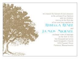 print your own wedding invitations tree green print your own wedding invitations