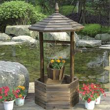 stonegate designs wooden wishing well planter model dsl 4142