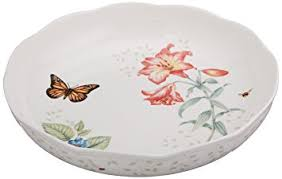 butterfly serving platter lenox butterfly meadow low serve bowl china