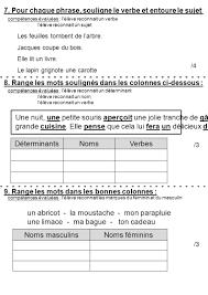 verbe de cuisine evaluation de milieu de ce1 français ppt télécharger