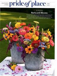 southern living wildflower cutting garden flower arrangement