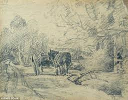 john constable drawing that inspired the hay wain sells for