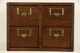 sold desktop 4x6 oak 4 drawer 1920 antique card file cabinet
