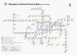5 Train Map Zhengzhou Subway Map Metro Planning Map