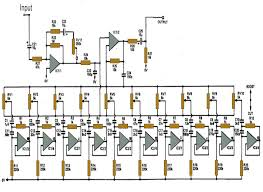 wiring home theater 5 band graphic equalizer using la3600 u2013 electronic circuits and