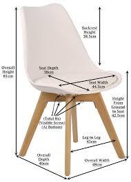 tulip white replica designer chair with cushion furniture u0026 home