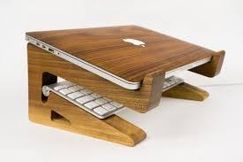 Laptop Stands For Desk by Walnut Wood Laptop Stand Riser Macbook Riser