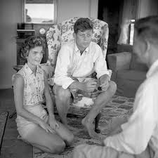 1953 jackie and jfk barefoot and newly engaged