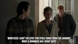 Walking Dead Carol Meme - carol throws rick to the wolves the walking dead the walking