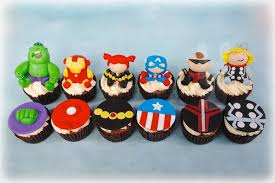 marvel cake toppers cupcakes