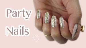 last minute new year u0027s eve nails gold u0026 silver glitter youtube