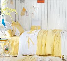 Yellow Duvet Cover King Aliexpress Com Buy Sweet Light Yellow White Fairy Duvet