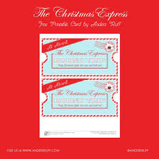 free printable christmas express train tickets