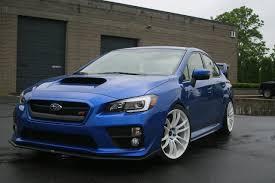 subaru wrx custom blue 19 inch wheels 2015 wrx sti aftermarket fitment specs u0026 images