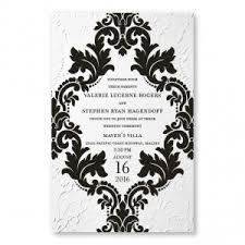 Damask Wedding Invitations Thermography Printing Engraved Wedding Invitations Surprisingly