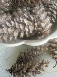 Decorating Pine Cones With Glitter Diy Glitter Pinecones Easy And Natural Decorations Works On