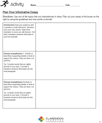 informative writing lesson plan clarendon learning
