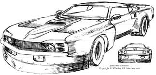 the shadowfast super car project concept sketches part one 1969