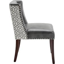 Sunpan Dining Chairs Sunpan 101088 Marlin Dining Chair In Nobility Grey Leather Front