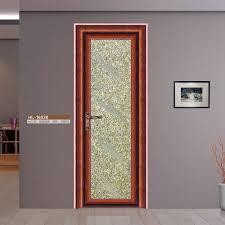 Steel Door Design Aluminum Steel Door Full Glass Design Swing Style Bathroom Door