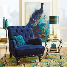 peacock blue chair painting and chair everything else is much peacock