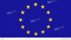 Flag With Yellow Star European Union Flag Spinning Stars Banner Background Video