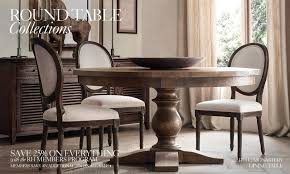 restoration hardware dining rooms dining table awesome dining table set round glass dining table as