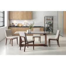 Beige Dining Room by Zuo Hamilton Beige Dining Chair Set Of 2 100718 The Home Depot