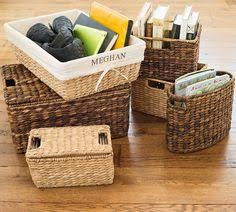 Pottery Barn Baskets With Liners Large Metal Basket These Baskets Are Ideal For Indoor And