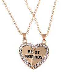 heart charm pendant necklace images Stylesilove bff best friends forever collection love jpg