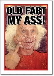 Old Fart Meme - fart unique humorous birthday paper card nobleworks