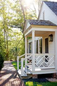 Front Porch Banisters Front Porch Railing Porch Traditional With Black Shutters Brick