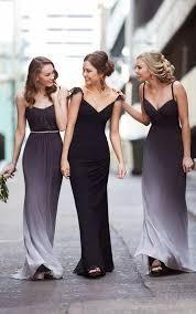 bridesmaids wedding dresses best 25 black bridesmaids ideas on black bridesmaid