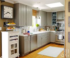 small kitchen gray cabinets kitchen color trends better homes gardens