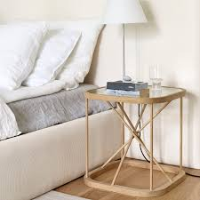 Glass Bedside Table by Contemporary Bedside Table Glass Oak Square Twiggy By