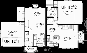 corner lot floor plans corner duplex house plans www houseplans pro duplex house
