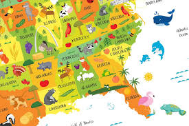 usa map kindergarten usa map for playroom decor nursery classroom decor