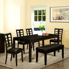 Black Dining Room Sets Black Bench Style Dining Table Best Gallery Of Tables Furniture