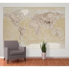 wall neutral world map atlas wallpaper mural 1 58m x 2 32m 1 wall neutral world map atlas wallpaper mural 1 58m x 2 32m