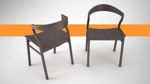 3d scandinavian wood dining room chair cgtrader