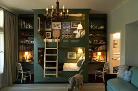 bunk bed with desk kids traditional with bookcase chandelier desk