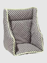 assise chaise haute coussin de chaise haute vertbaudet pois gris vertbaudet