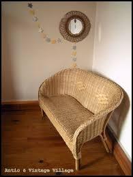canapé en osier ravissant petit canapé enfant en osier antic vintage la