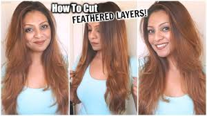 can you have a feathered cut for thick curly hair how to cut your hair at home in feathered layers diy layers